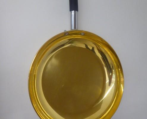 padella rame verniciatura oro
